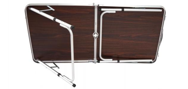 Campingtisch T367, Klapptisch Gartentisch Koffertisch 68x120x60cm mit Schirmloch - Vorschau 4