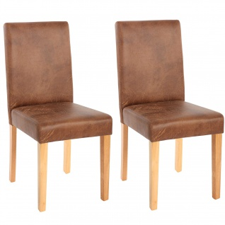 2x Esszimmerstuhl Stuhl Küchenstuhl Littau ~ Textil, Wildlederimitat, helle Beine