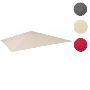 Bezug für Luxus-Ampelschirm HWC-A96, Sonnenschirmbezug Ersatzbezug, 3, 5x3, 5m (Ø4, 95m) Polyester 4kg ~ creme