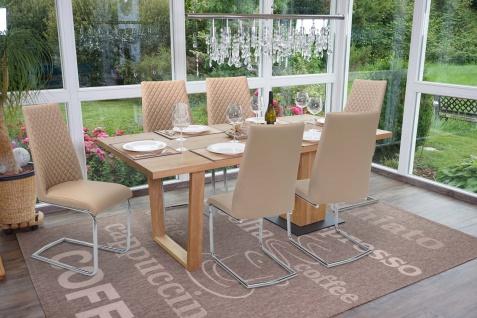 6x Esszimmerstuhl HWC-F31, Stuhl Küchenstuhl Freischwinger, Kunstleder - Vorschau 2