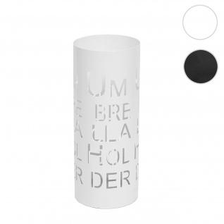 Schirmständer HWC-C78, Regenschirmständer Schirmhalter Regenschirmhalter, rund 55cm ~ Schrift, weiß