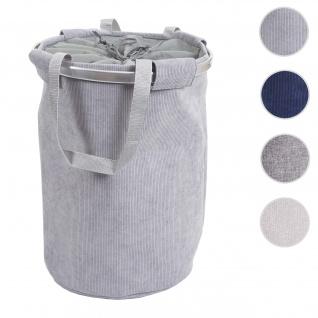 Wäschesammler HWC-C34, Laundry Wäschekorb Wäschesack Wäschebehälter mit Kordelzug, Henkel 55x39cm 65l ~ cord grau