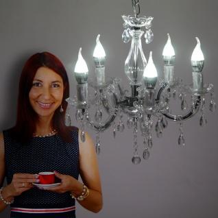 LED-Kronleuchter HW154, Hängeleuchte Lüster, 5-flammig 15W EEK A++ klar - Vorschau 5