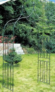 Rosenbogen Rankhilfe 60-er, Metall ~ dunkelgrün