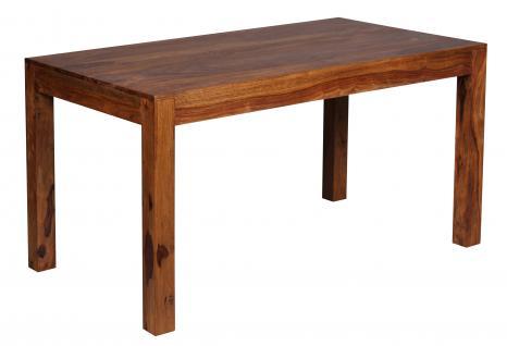 Esszimmertisch Malatya, Tisch Esstisch, Sheesham Massivholz, 76x140x80cm