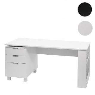 Schreibtisch HWC-F63, Bürotisch Computertisch Arbeitstisch, 150x60cm ~ weiß