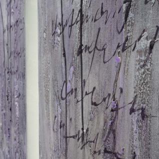 Ölgemälde Lila Blumen, 100% handgemaltes Wandbild XL, 120x90cm - Vorschau 3