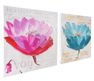 Ölgemälde Orchidee, 100% handgemaltes Wandbild XL, 100x50cm - Vorschau 3