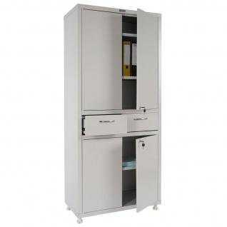 Aktenschrank Valberg T380, Metallschrank Büroschrank, 180x80x40cm