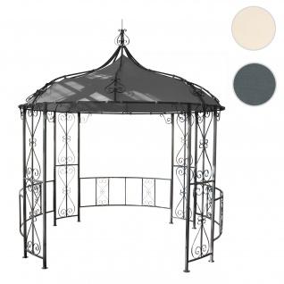 Pergola Almeria, Rundpavillon Garten Pavillon, stabiles Stahl-Gestell Ø 3m ~ grau