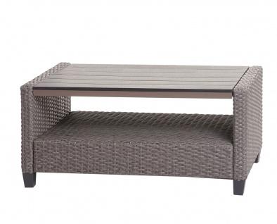 Garnitur HWC-J35, Lounge-Set Sitzgruppe Sofa, Spun Poly halbrundes Poly-Rattan ~ grau, Kissen anthrazit - Vorschau 5