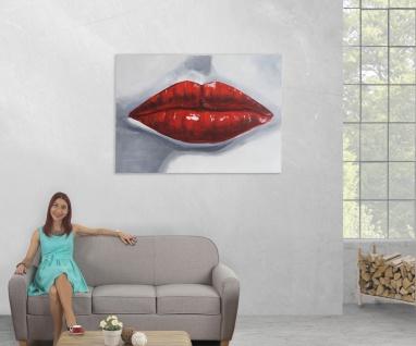 Ölgemälde Lippen, 100% handgemaltes Wandbild Gemälde XL, 120x85cm - Vorschau 5