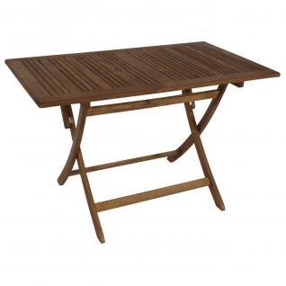 Klapptisch FG20, Gartentisch Holztisch, Akazienholz, 120x70cm