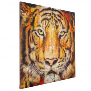 Ölgemälde Tiger, 100% handgemaltes Wandbild XL, 100x90cm - Vorschau 3