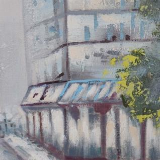 Ölgemälde Ortschaft, 100% handgemaltes Wandbild Gemälde XL, 120x90cm - Vorschau 5