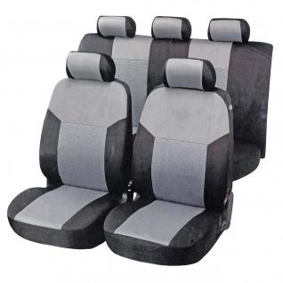 Auto Schonbezüge HWC-G94, Sitzbezug Sitzauflage Schoner, Universalgröße Set 11-teilig