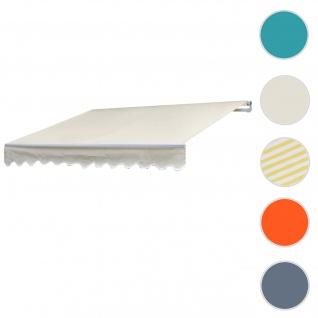 Alu-Markise HWC-E31, Gelenkarmmarkise Sonnenschutz 3x2, 5m ~ Polyester Creme
