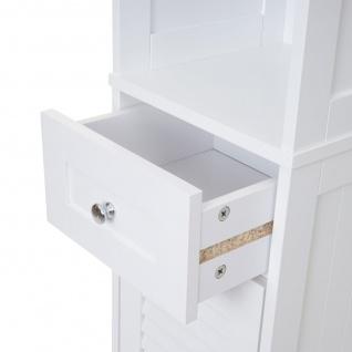Badezimmerset HWC-F75, Badmöbel-Set Hochschrank Waschbeckenunterschrank Kommode Wandspiegel, Landhaus weiß - Vorschau 3