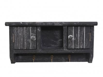Schlüsselbrett HWC-A48, Schlüsselkasten Schlüsselboard mit Türen, Massiv-Holz ~ shabby grau - Vorschau 3