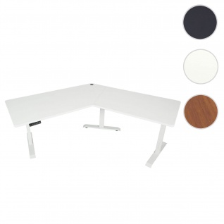 Schreibtisch HWC-D40, Computertisch, 120° elektrisch höhenverstellbar ~ weiß, weiß