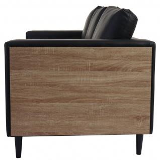 3-1-1 Sofagarnitur Nancy, Couch Kunstleder, schwarz - Vorschau 2