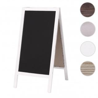 XL Werbetafel HWC-C17, Aufsteller Kreidetafel Kundenstopper, 2 Schreibflächen klappbar, 100x50cm ~ weiß shabby