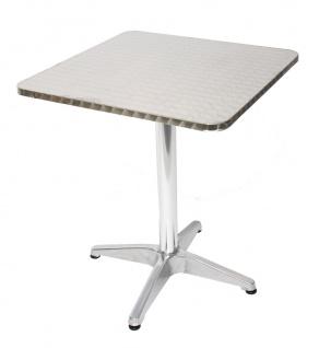 Alu-Tisch Bistrotisch eckig, wetterfest, 60x60x70cm