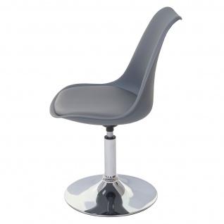 Drehstuhl Malmö T501, Stuhl Küchenstuhl, höhenverstellbar, Kunstleder ~ dunkelgrau, Chromfuß - Vorschau 5