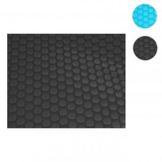 Pool-Abdeckung Wärmeplane Abdeckplane Solarplane Solarabdeckung, Stärke: 400 µm ~ rechteckig 8x4m schwarz