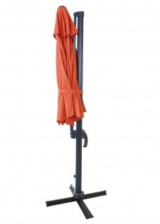 Gastronomie-Ampelschirm HWC-A96, Sonnenschirm, rund Ø 3m Polyester Alu/Stahl 23kg - Vorschau 3