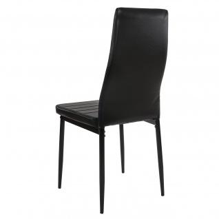 6x Esszimmerstuhl Lixa, Stuhl Küchenstuhl, Kunstleder schwarz - Vorschau 5