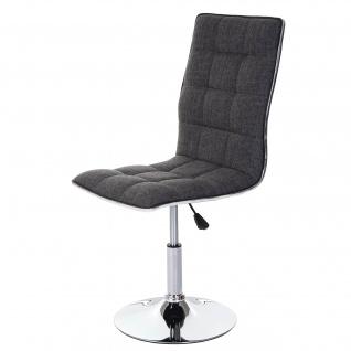 6x Esszimmerstuhl HWC-C41, Stuhl Küchenstuhl, Stoff/Textil hellgrau - Vorschau 3