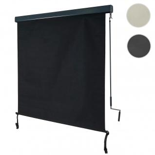 Vertikalmarkise HWC-F42, Senkrechtmarkise Sichtschutz Außenrollo Rollo, UV-Schutz 50 Stoff ~ 250x140cm, schwarz
