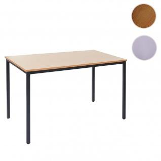 Schreibtisch Braila, Konferenztisch Bürotisch Seminartisch, 160x80cm MDF ~ Buche-Optik