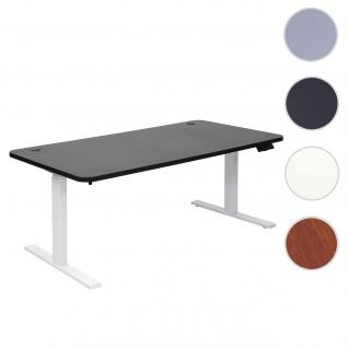Schreibtisch HWC-D40, Bürotisch Computertisch, elektrisch höhenverstellbar Memory 160x80cm 53kg ~ schwarz, weiß