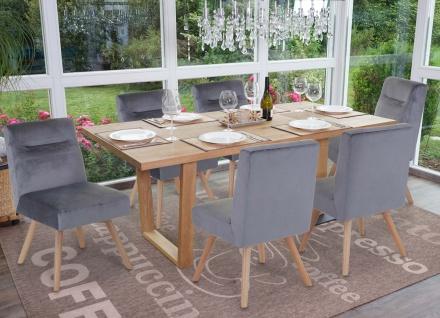 6x Esszimmerstuhl HWC-F38, Stuhl Küchenstuhl, Retro Design Samt - Vorschau 2