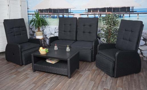 Garnitur HWC-J35, Lounge-Set Sitzgruppe Sofa, Spun Poly halbrundes Poly-Rattan ~ anthrazit, Kissen anthrazit - Vorschau 2