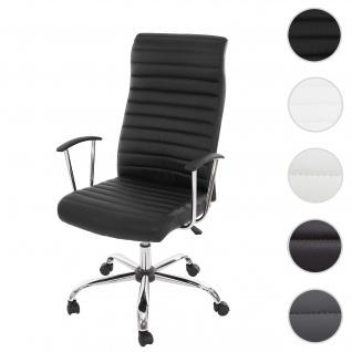 Bürostuhl Cagliari, Drehstuhl Schreibtischstuhl Chefsessel, Kunstleder ~ schwarz