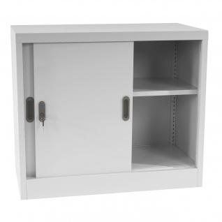 Aktenschrank Boston T311, Metallschrank Büroschrank Stahlschrank, 2 Türen 69x80x42cm, grau