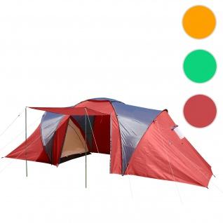 Campingzelt Loksa, 4-Mann Zelt Kuppelzelt Igluzelt Festival-Zelt, 4 Personen ~ rot