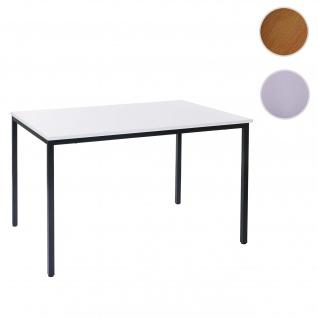 Schreibtisch Braila, Konferenztisch Bürotisch Seminartisch, 160x80cm MDF ~ weiß - Vorschau 1