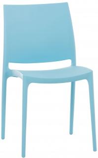 Stapelstuhl CP204, Besucherstuhl ~ hellblau