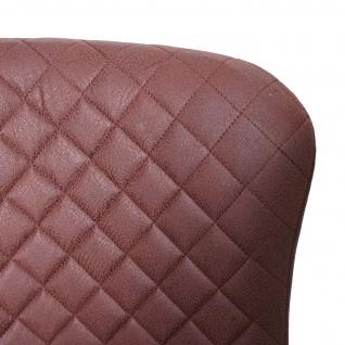 2x Barhocker HWC-H79, Barstuhl Tresenhocker, Vintage Metall Fußablage ~ Stoff/Textil braun - Vorschau 5