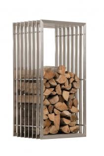 Kaminholzständer CP566, Feuerholzregal ~ 100cm, edelstahl