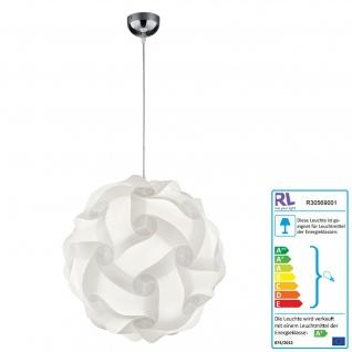 Reality|Trio LED Pendelleuchte RL169, Hängeleuchte Hängelampe, Kunststoffbehang incl. Leuchtmittel E