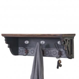 Wandgarderobe HWC-A43, Wandhaken, Tanne Holz massiv Vintage 22x60x18cm