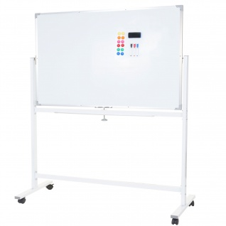 Whiteboard HWC-C85, Magnettafel Memoboard Pinnwand, mobil rollbar inkl. Zubehör