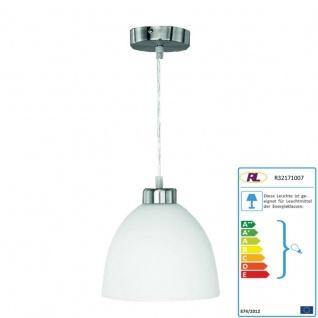 Reality|Trio Pendelleuchte Deckenlampe Lampe, nickel matt, Opal-Glas, weiß, D=20cm