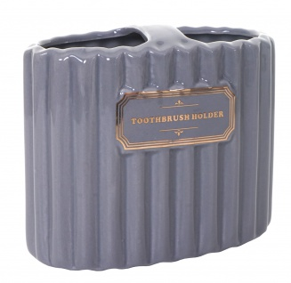 5-teiliges Badset HWC-C96, WC-Garnitur Badezimmerset Badaccessoires, Keramik grau/gold - Vorschau 3