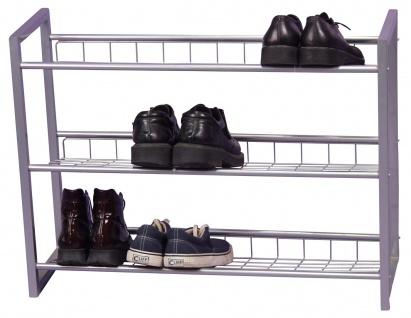 Schuhregal H81, Schuhablage Schuhständer, 3 Ablagefächer, 60x80x25cm - Vorschau